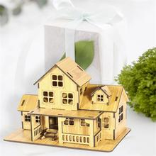 Creative DIY Wooden House Model To Be Assembled Ornaments Home Decorations Art Crafts Bamboo Wood Furniture Shooting Props Gifts