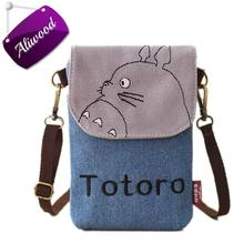 2017 New Cartoon Totoro Women Bag Messenger Bags Lady's Mini Shoulder Bag Handbags Female Clutch Purse Phone Bag Set For Animals(China)