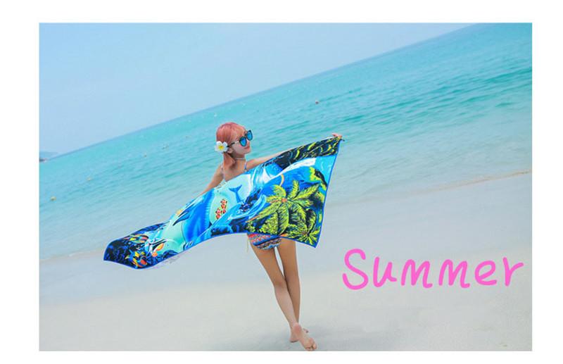 Micro Fiber Printed Beach Towel 140*70cm 7