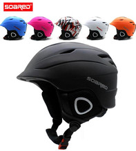 SOARED Ski Helmet Integrally-molded Skiing Helmets Safety Protect Adult Kids Thermal Ultralight Snowboard Skateboard Head Wear(China)