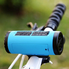 PINDO P-X6 Outdoor Bike Bluetooth Column 3W 10 m 4400mAh Flashlight Sound Amplifier for Speakers Subwoofer with Calling FM(China)
