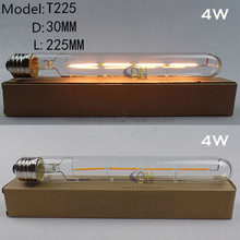 4W T225 E27 Led filament bulb clear grass edison light bulbs indoor led lighting AC220-240V filament lamp