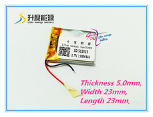 SD 502323 small high performance rechargeable 3.7v li polymer battery 502323 150mah tablet battery(China)