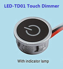 2Pcs 12V Touch LED Dimmer Touch Memory Continuous Dimmer For LED Lighting Input 8Vdc~24V DC Constant Current Max. 700mA 2017 New(China)