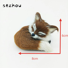 Simulation Animal Fox Plush Genuine Leather Toy Plush Doll Toy For Kids Birthday Gift