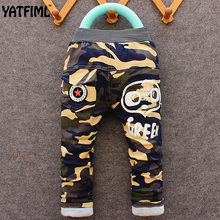 YATFIML 2017 Spring Autumn Fashion baby cotton camouflage long pants Children's clothing Kids boy sport Camo cargo trousers 2-5T(China)
