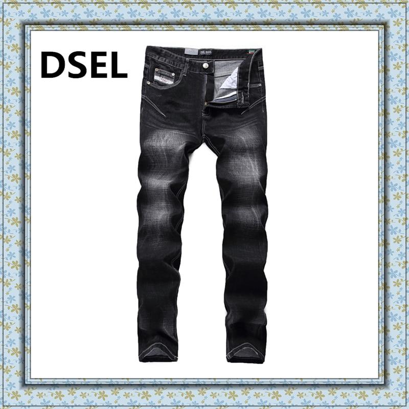 Fashion Mens Black Jeans Ripped Denim Slim Fit Trousers Plus Size:30-40 Brand Dsel Jeans Men A702Одежда и ак�е��уары<br><br><br>Aliexpress