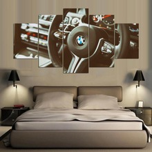 5 Piece Canvas Painting Spray Printings Art Picture Movie Poster BMW The steering wheel ID-484
