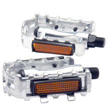 "1 Pair MTB Aluminium Alloy Mountain Bike Bicycle Cycling 9/16"" Pedals Flat-Silver"