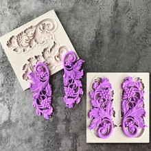 European Lace Shaped Series Cake Mold Fondant Cookie Mold for Jelly Candy Chocolate Soap Mold Decorating Kitchen Bakeware Tool