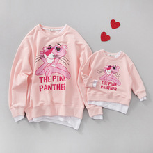 Family matching clothes mother and daughter clothes family look mommy and me clothes family clothing charater pink sweatshirts(China)