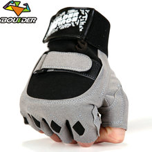 Men Brand Gyms Body Building Yoga Equipment Weight lifting Half finger Fight breathable Luvas Fitness Gloves Black Gray Mittens(China)