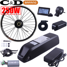 36V 250W 48V 350W 10AH BAFANG SWXH Rear Motor 10AH 8AH 10.4AH bottle battery LED LCD display Electric bike kit ebike conversion(China)