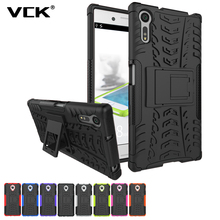 For SONY Xperia X XA XZ XR E5 C5 C6 XA Ultra Performance Case Heavy Duty TPU PC Defender Armor Dazzle Shockproof with Kick Stand(China)