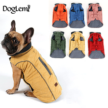 2017 Dog Clothes Winter Quilted Dog Coat Water Repellent Winter Dog Pet Jacket Vest Retro Cozy Warm Pet Outfit Clothes Big Dogs(China)