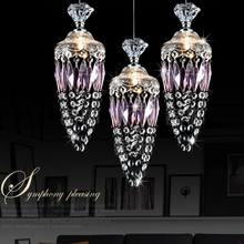 1/3 heads crystal pendant lamp dining room droplight originality bar individuality table lanterns pendant lights ZA72612(China)