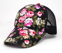2016 hot sale female floral baseball hat for women spring and summer casual cap girls sun snapback hats for sport l leisure(China)