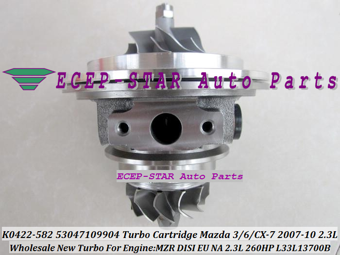 Turbo CHRA Cartridge Core K0422-582 53047109904 53047109907 Turbocharger For Mazda 3 6 CX-7 CX7 2007- MZR DISI EU/NA 2.3L 260HP<br><br>Aliexpress