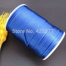 100m/roll 2mm sapphire Factory Price Polyester thread Cord Lace Jewelry Findings DIY Handmade lines Beading Thread 1905(China)