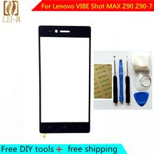 Free DIY Tools+Original New Touch Screen For Lenovo VIBE Shot MAX Z90 Z90-7 Glass Capacitive sensor Touch Screen panel Black