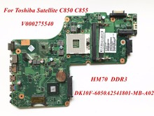 V000275540 For Toshiba Satellite C850 C855 Laptop Motherboard DK10F-6050A2541801-MB-A02 PGA989 SJTNV HM70 DDR3 100% Tested