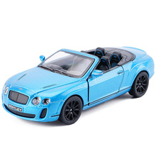 High Simulation KiNSMART 1:38 Bentley Continental GT Alloy Diecast Car Model Metal With Pull Back For Kids Toys Free Shipping