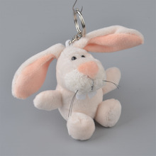 5 Pcs White Rabbit Pendant Stuffed Plush Keyring, Key holder / Keychain Gift Free Shipping(China)