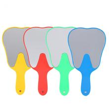 Cute Handle Dental Mirror Unbreakable Mouth Teeth Mirror Oral Hygiene Plastic Makeup Mirror Oral Care Hygiene Tool For Dentist(China)