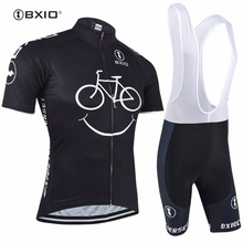 BXIO Men Cycling Clothing Pro Team Bike Short Sleeve With Bib Shorts Three Rear Pockets Of The Cycling Jerseys Ropa Ciclismo 085(China)