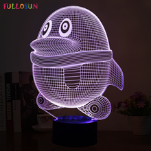 Cutely 3D LED Visual Lights with Penguin Model LED Atmosphere Colorful Energy Saving Table Lamp for Holiday Gifts