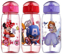 400ml  PP Kid Bickiepegs Baby kettle Baby Cartoon Water Bottle Children Straw Bottle Children Kettle Sports Bottle