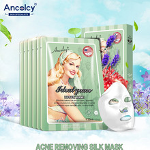 Ancolcy Acne Removing Silk Mask Whitening Pale Spot Hydrating Oil Control Face Mask Beauty Skin Care Skin Treatment Facial Mask(China)