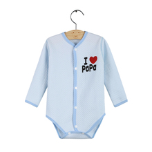 I Love PaPa & MaMa Baby Boy Girl Long Sleeve Quilted Cotton Romper One Pieces Clothes Jumpsuits Roupas Infantil Baby Clothing