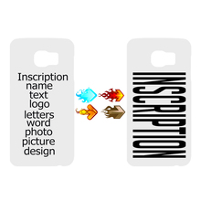 DIY Design Logo Custom Inscription Text Letters Picture Photo Logo Protectrive Cover Case For Samsung Galaxy S7/S7edge