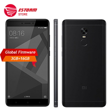 "Original Xiaomi Redmi Note 4X 3GB 16GB Mobile Phone 4 X Snapdragon 625 Octa Core Smartphone 13.0MP 5.5"" Fingerprint ID 4G LTE"
