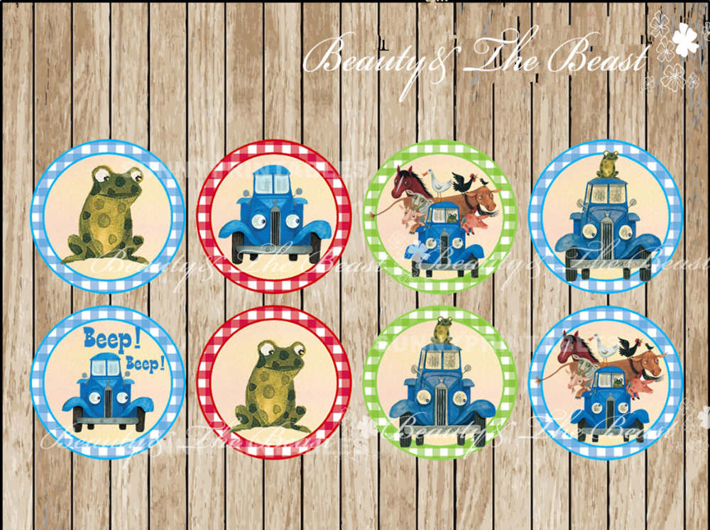 Little Blue Truck triangle cupcake toppers,Birthday Party Decorations kids Sticker / Label for Birthday,Baby Shower Candy Bar(China (Mainland))