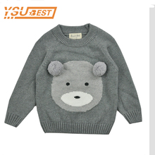2016 Autumn Kids Girls Cute Bear Pattern Sweaters Winter Kids Fashion Bear Pattern Knitting Sweaters For Girl Boy Children Cloth