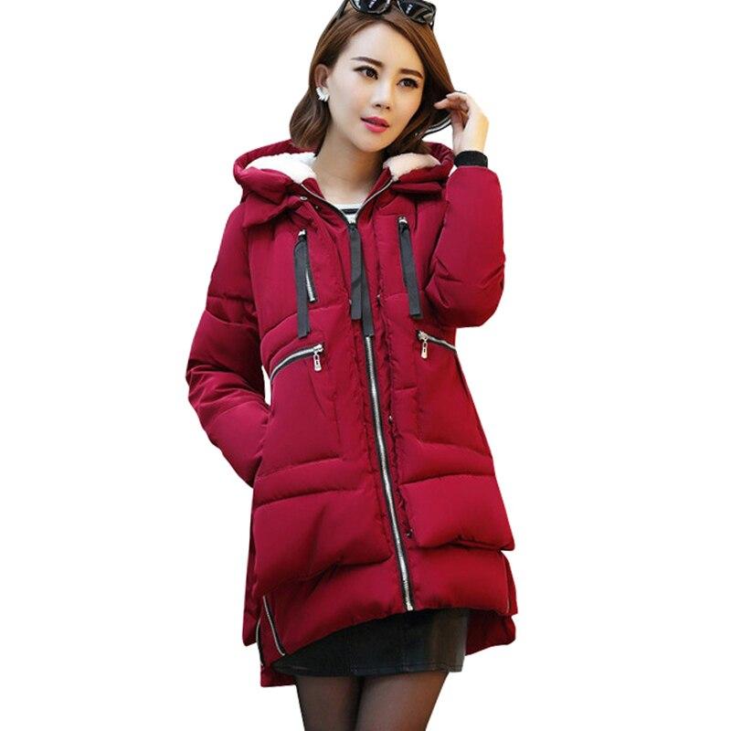 2017 Fashion Plus size 5XL Thick Parkas Jacket Women Winter Warm Short Style Solid Hooded Down Female Padded Slim Jacket CoatsÎäåæäà è àêñåññóàðû<br><br>