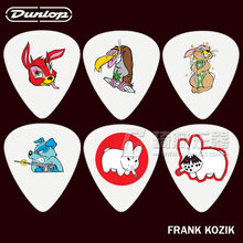 Dunlop Frank Kozik Design Guitar 6 Picks Set 3 Different Gauges(China)