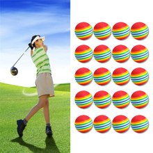 20Pcs/Pack Rainbow Stripe Foam Sponge Golf Balls Swing Practice Training Aids(China)