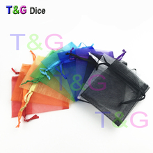50pcs/lot 7x9cm Organza Gift 3 Color Jewelry Organza Bags Christmas Wedding Gifts Dice bag Board Game