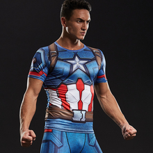 Captain America Civil War Tee 3D Printed T-shirts Men iron man cosplay costumes Fitness Compression Clothing Male Crossfit Tops(China)
