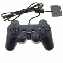 Wholesale Price Wired Controller para PS2 Joystick Gamepad For Game Console Playstation 2 Black FOR PS2 Gamepad(China)