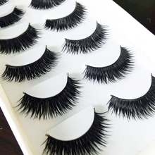 New 6 Pairs Natural Fake Eye Lashes Makeup Handmade False Lashes Thick Black Cross Long False Eyelashes Extension(China)