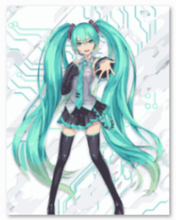 The famous popular Character Hatsune Miku poster oil paintings 40X50cm pictures painting by numbers canvas painting wall art
