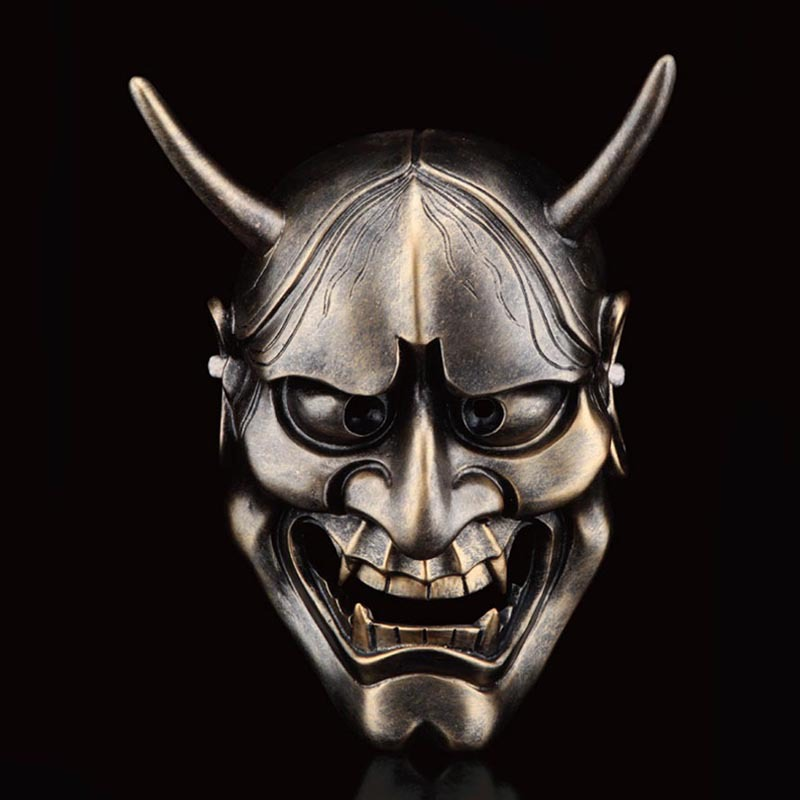 Halloween Japanese Buddhism Prajna Ghost Traditional Hannya Mask Halloween Horror Costume Slipknot Cosplay resin Mask HFA32(China)