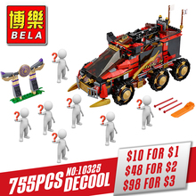 Bela 10325 Ninja DB X building Blocks Bricks for children Toy Set Boy Game Car Truck Gift Compatible With Decool 70750(China)