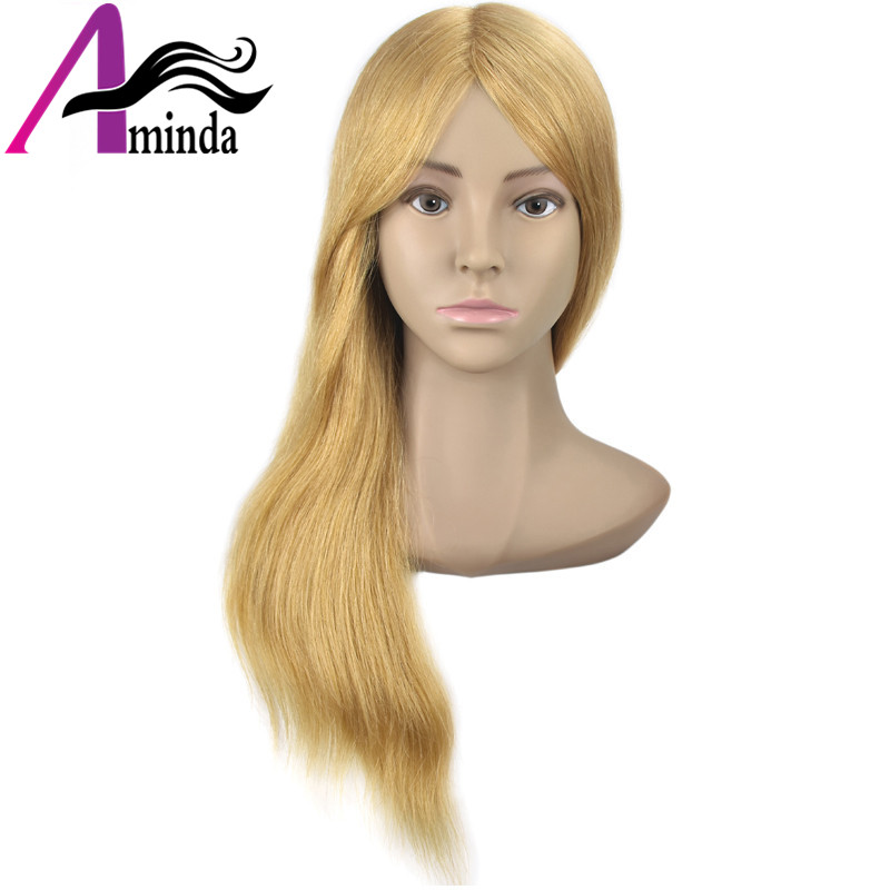 Salon Mannequin Head Practice Head Training Head For Barber HairStyles Doll Hairdressing Cosmetology Styling Manikin Head with Clamp (25)