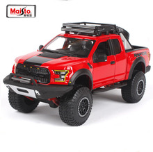 New Maisto 1/24 Ford F-150 2017 Raptor SVT PICKUP Truck Diecast Car Model Metal Car Toy For Kids Birthday Gift Toy Free Shipping