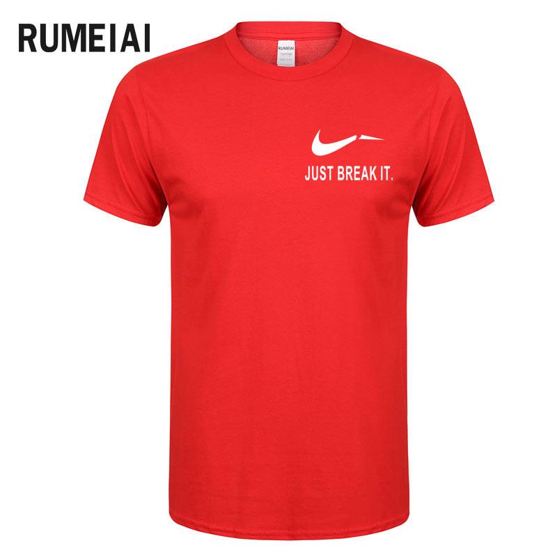 RUMEIAI Fashion Men T-Shirts Male US Size T shirt Homme Summer cotton Short Sleeve T Shirts Brand Men's Tee Shirts Man Clothes 3